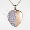 Diamond Pavé Swirl Heart Locket 14K Gold Cremation Jewelry Necklace