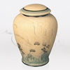 Ecru Ceramic Porcelain Cremation Urn
