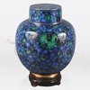Great Wall Blue and Green Cloisonné Cremation Urn