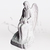 Seated Angel In Mourning Cultured Marble Statuary Cremation Urn