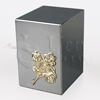 Rose Cluster Satin Finish Stainless Steel Metal Cremation Urn