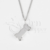 Bone Sterling Silver Cremation Jewelry Necklace