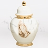 Eternal Praying Hands Ceramic Cremation Urn
