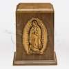 Our Lady of Guadalupe Wood Cremation Urn