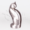 Tall Cat Silver Statuary Pet Cremation Urn