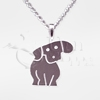 Puppy Sterling Silver Pet Cremation Jewelry Necklace