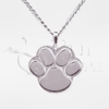 Paw Print Sterling Silver Pet Cremation Jewelry Necklace