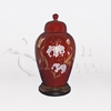 Vanessa Burgundy Ceramic Keepsake Cremation Urn