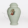 Guardian Angel Ivory Ceramic Child and Infant Cremation Urn