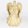 Angel with Flowers Cast Resin Statuary Companion Cremation Urn