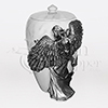 Angel's Embrace Pewter Cast Resin Cremation Urn