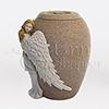 Angel's Embrace Hand-Painted Cast Resin Cremation Urn