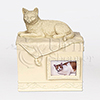 Beloved Companion Cat Photo Cast Resin Pet Cremation Urn