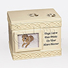 Dog Paw Prints Photo Cast Resin Pet Cremation Urn