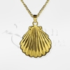 Sea Shell Brass Cremation Jewelry Necklace