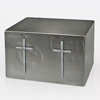 Titan Twin Crosses Satin Finish Stainless Steel Companion Cremation Urn