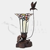 Pink Bouquet Hummingbird Tiffany-Style Lamp Token Cremation Urn