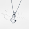 Heart Marine Ship Anchor Sterling Silver Cremation Jewelry Necklace