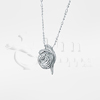 Rose Sterling Silver Cremation Jewelry Necklace