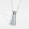 Maine Lighthouse Sterling Silver Cremation Jewelry Necklace