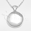 High Polish Round Sterling Silver Cremation Jewelry Necklace