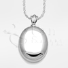 High Polish Oval Sterling Silver Cremation Jewelry Necklace