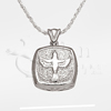 Dove Cushion Sterling Silver Cremation Jewelry Necklace
