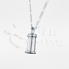 Small Traditional Cylinder Sterling Silver Cremation Jewelry Necklace