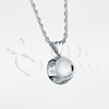 Pet Dish Sterling Silver Cremation Jewelry Necklace