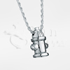 Fire Hydrant Sterling Silver Cremation Jewelry Necklace