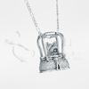 Terrier Purse Sterling Silver Cremation Jewelry Necklace