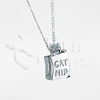 Cat Nip Bag Sterling Silver Cremation Jewelry Necklace