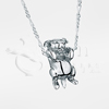 Begging Puppy Sterling Silver Cremation Jewelry Necklace