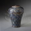 Lily Blue Wood Keepsake Cremation Urn