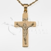 Crucifix 14K Gold Cremation Jewelry Necklace