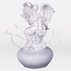 Angel on Bench Cultured Marble Statuary Token Cremation Urn