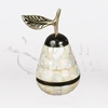 Mother of Pearl Pear Brass Metal Token Cremation Urn