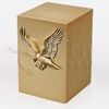 American Eagle Bronze Metal Cremation Urn