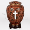 Emperor Red with Cross Cloisonné Cremation Urn