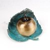Apple and Leaf Bronze Metal Statuary Token Cremation Urn