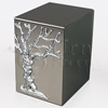 Tree of Life Satin Finish Stainless Steel Metal Cremation Urn
