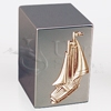 Spinnaker Sailboat Mirror Finish Stainless Steel Metal Cremation Urn