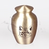Cat Face Brass Metal Pet Cremation Urn