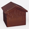Dog House Cherry Wood Pet Cremation Urn