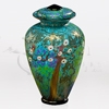Iridescent Spring Glass Cremation Urn