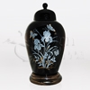 Vanessa Butterflies Black Ceramic Cremation Urn