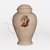 Guardian Angel Pink Ceramic Child and Infant Cremation Urn