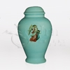 Guardian Angel Blue Ceramic Child and Infant Cremation Urn