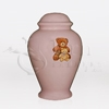 Teddy Bears Pink Ceramic Child and Infant Cremation Urn