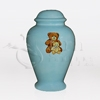 Teddy Bears Blue Ceramic Child and Infant Cremation Urn